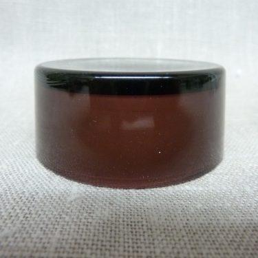 Riihimäen lasi maustepurkki, lila, suunnittelija Saara Hopea, lasinen, korkki kuva 2