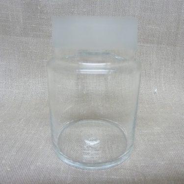 Riihimäen lasi maustepurkki, lila, suunnittelija Saara Hopea, lasinen, korkki kuva 3