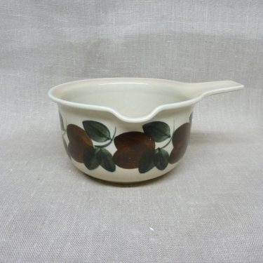 Arabia Ruija sauce pitcher, brown, designer Raija Uosikkinen, hand-painted