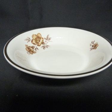 Arabia Myrna lautanen, 4 kpl, suunnittelija , kultakoriste, kukka-aihe
