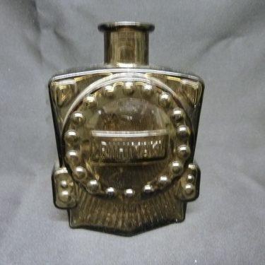 Riihimäen lasi Veturipullo decorative bottle, brown, designer Erkkitapio Siiroinen, small