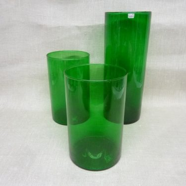 Nuutajärvi Purtilo glass jar, green, 3 pcs, designer Kaj Franck
