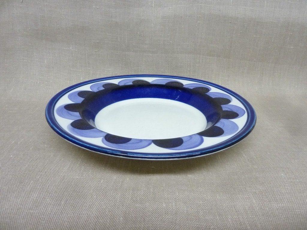 Arabia Paju lautanen, suunnittelija , syvä, käsinmaalattu