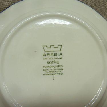 Arabia Sotka lautanen, suunnittelija , syvä, käsinmaalattu kuva 3