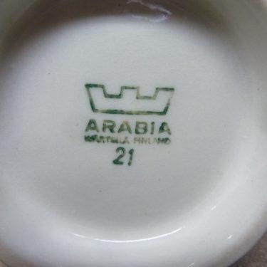 Arabia Sotka sokerikko ja kermakko, sininen, suunnittelija , käsinmaalattu kuva 2