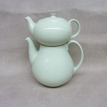 Arabia Sointu teekannu, vaaleanvihreä, suunnittelija , kaksiosainen, harvinainen