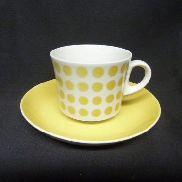 Arabia Pop kahvikuppi, keltainen, suunnittelija , puhalluskoriste, retro