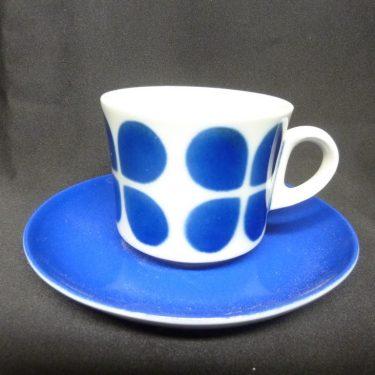 Arabia BR kahvikuppi, sininen, suunnittelija , puhalluskoriste, retro