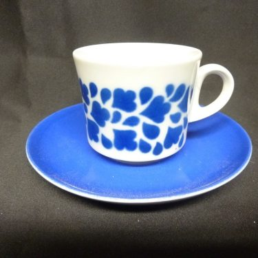 Arabia Varpu kahvikuppi, sininen, suunnittelija , puhalluskoriste, retro