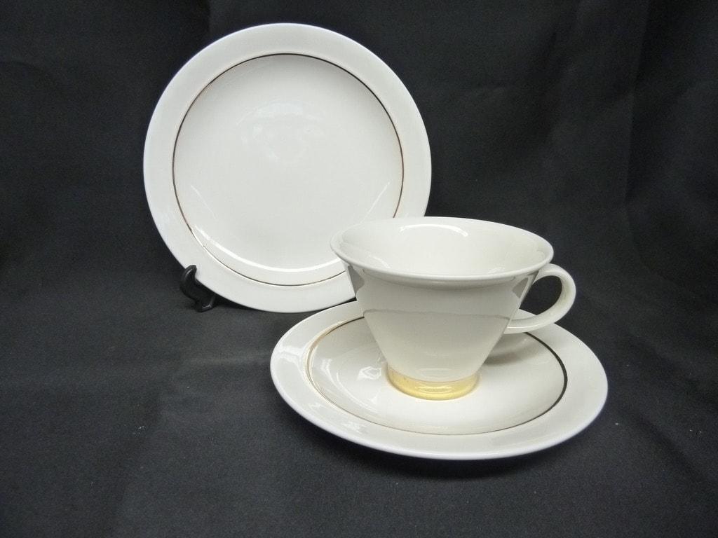 Arabia Harlekin Gold kahvikuppi, valkoinen, kulta, suunnittelija , kultaraita