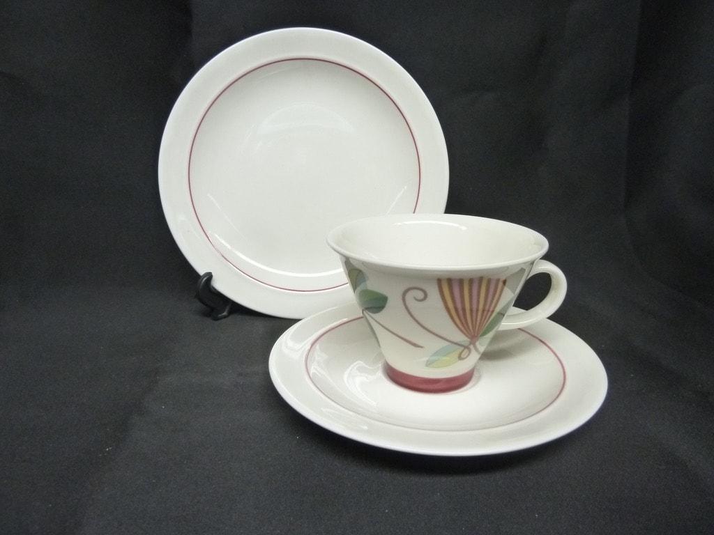 Arabia Harlekin Karneval kahvikuppi, valkoinen, suunnittelija , koristeltu