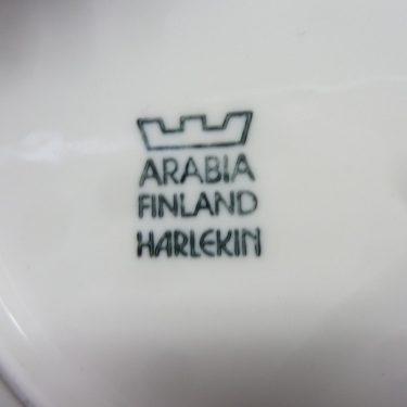 Arabia Harlekin Karneval kahvikuppi, valkoinen, suunnittelija , koristeltu kuva 2