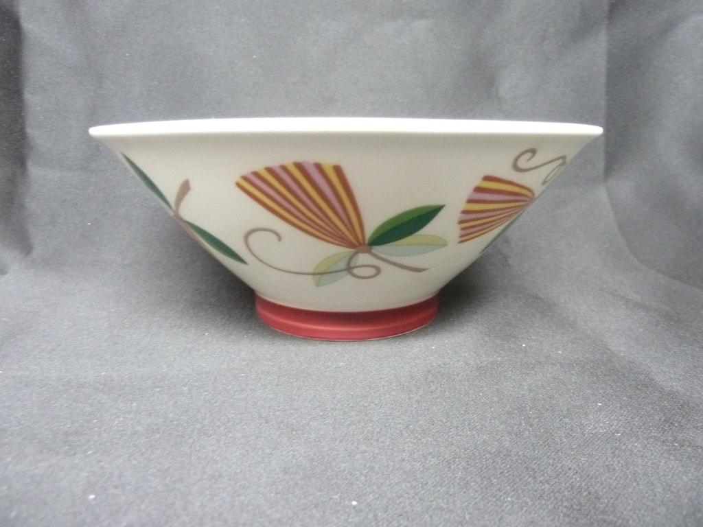 Arabia Harlekin Karneval bowl, white, designer Inkeri Leivo
