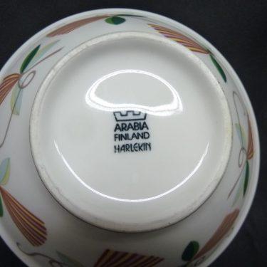 Arabia Harlekin Karneval bowl, white, designer Inkeri Leivo, 2