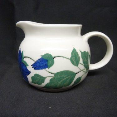 Arabia Tea for Two jug, green, silk screening, flower theme
