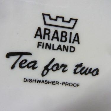 Arabia Tea for Two kaadin, vihreä, suunnittelija , serikuva, kukka-aihe kuva 2