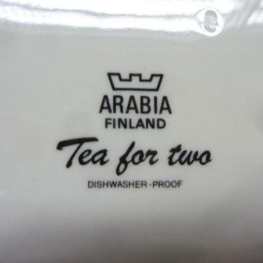Arabia Tea for Two lautanen, 6 kpl, suunnittelija , serikuva, kukka-aihe kuva 2