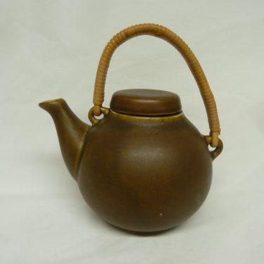 Arabia GA teekannu, ruskea, suunnittelija Ulla Procopé,