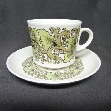 Arabia Hermes kahvikuppi, suunnittelija Raija Uosikkinen, serikuva