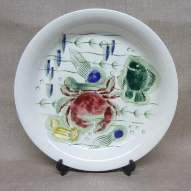 Arabia Crayfish lautanen, suunnittelija , värillinen, käsinmaalattu