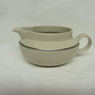 Arabia Airisto sauce pitcher, designer Inkeri Leivo, striped