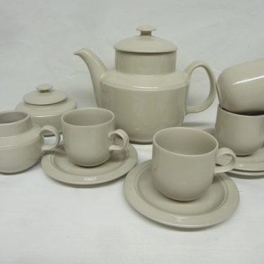 Arabia KR kahviastiasto 4:lle, valkoinen, suunnittelija Inkeri Leivo,