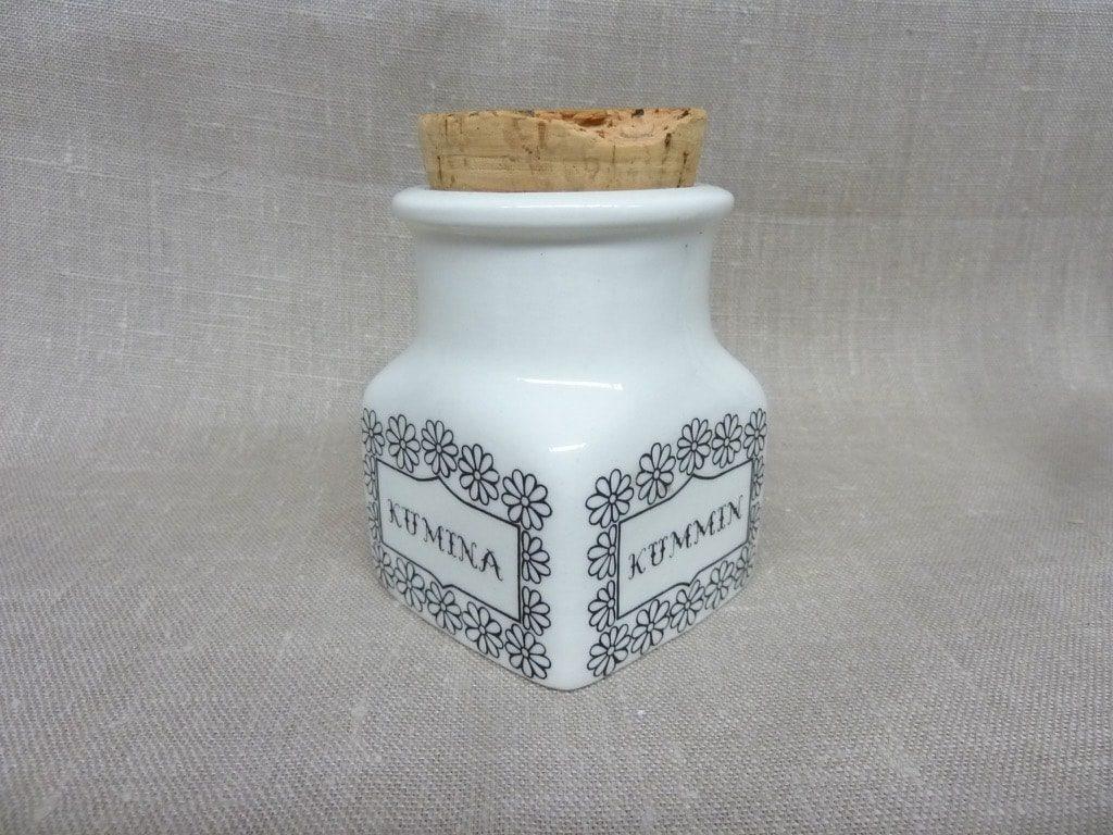 Arabia Maustekuva maustepurkki, Kumina, suunnittelija Esteri Tomula, Kumina, serikuva