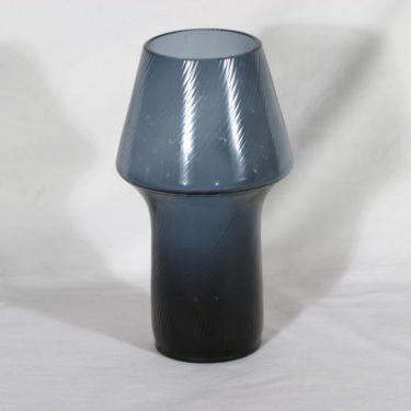 Riihimäen lasi maljakko, siniharmaa, suunnittelija Aimo Okkolin,