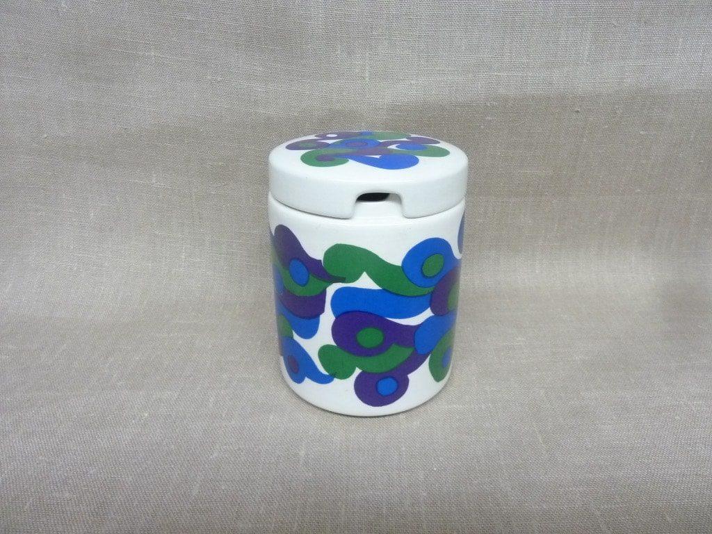 Arabia Mimmi jar, silk screening, retro