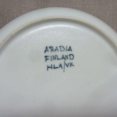 Arabia Aurinkoruusu lautaset, matala, suunnittelija Hilkka-Liisa Ahola, matala, signeerattu, käsinmaalattu kuva 2