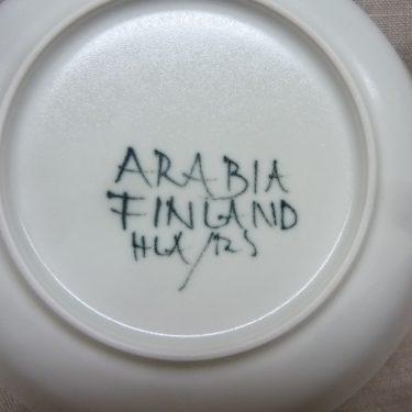 Arabia Aurinkoruusu lautaset, syvä, suunnittelija Hilkka-Liisa Ahola, syvä, signeerattu, käsinmaalattu kuva 2