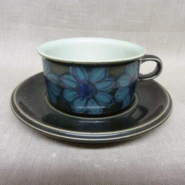 Arabia S tea cup, designer Hilkka-Liisa Ahola, hand-painted, signed, retro