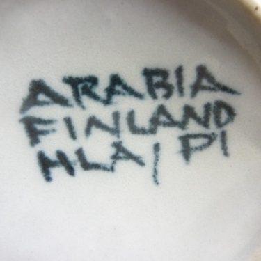 Arabia S teekuppi, suunnittelija Hilkka-Liisa Ahola, käsinmaalattu, signeerattu, retro kuva 3