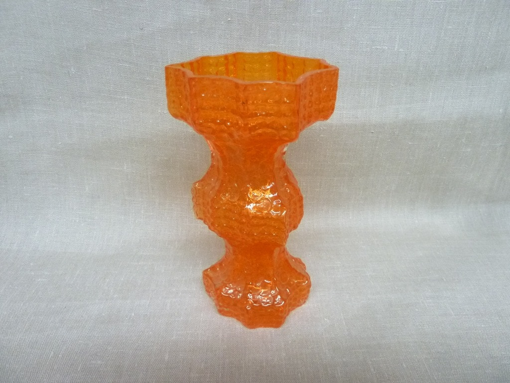 Riihimäen lasi Fenomena maljakko, oranssi