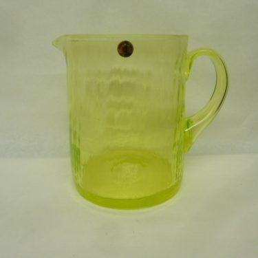 Riihimäen lasi Neptuna kaadin, keltainen, suunnittelija Nanny Still, 1 l