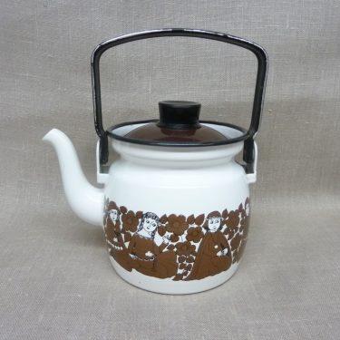 Arabia Ritari coffee pot, brown, designer Raija Uosikkinen, 0.6 l, small