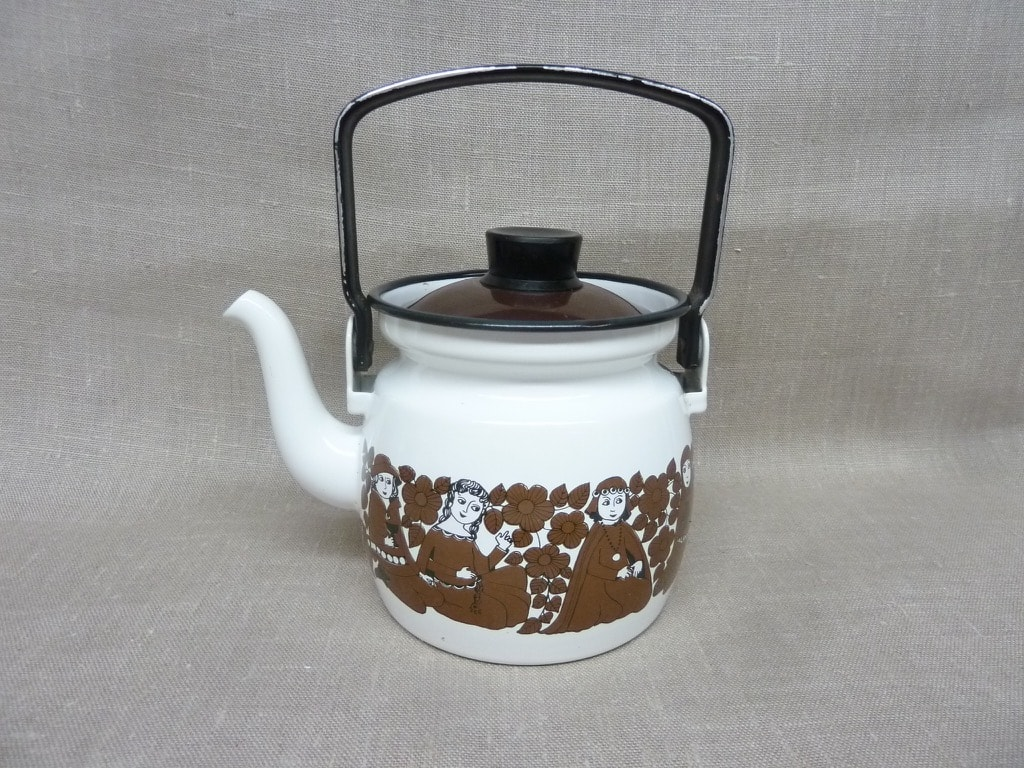 Arabia Ritari coffee pot, brown, designer Raija Uosikkinen, 0.6 l, small