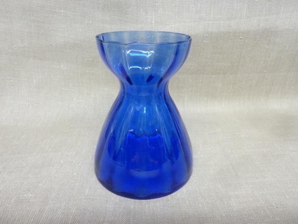 Riihimäen lasi Hyasintti maljakko, sininen, suunnittelija Tamara Aladin, pieni