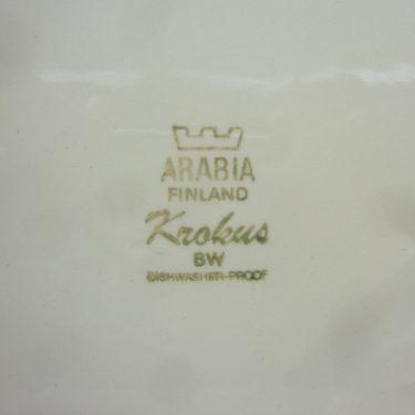 Arabia Krokus lautaset, mustavalkoinen, 6 kpl, suunnittelija Esteri Tomula, matala kuva 2