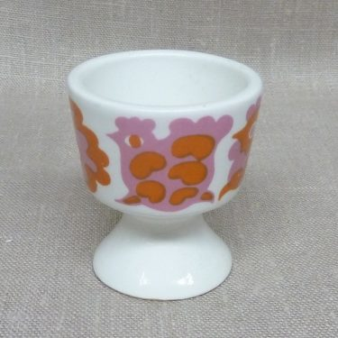 Arabia Emma egg cup, silk screening, retro