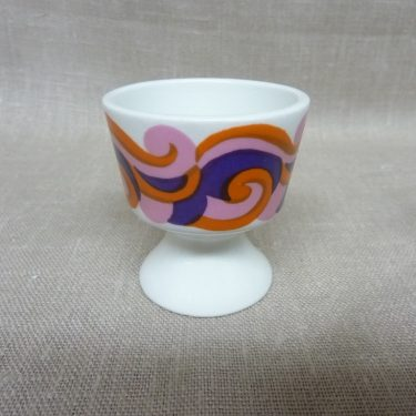 Arabia Mimmi egg cup, silk screening, retro