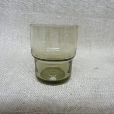 Nuutajärvi Pinottava lasi snapsilasit, harmaa, 6 kpl, suunnittelija Saara Hopea,  kuva 2