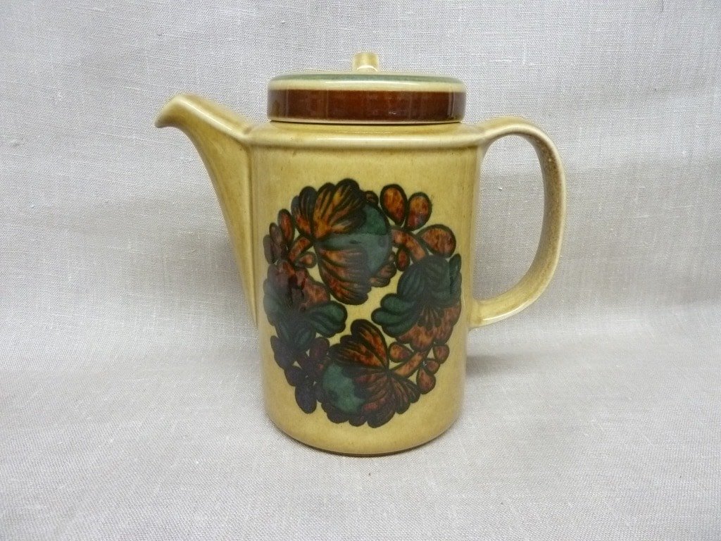 Arabia Otso tea pot, brown, designer Raija Uosikkinen, special decoration, retro