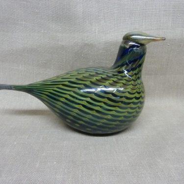 Nuutajärvi bird, Pilvikana, designer Oiva Toikka, lyster pattern, signed, 2