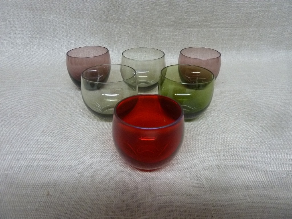 Nuutajärvi Marja glasses, 6 pcs, Saara Hopea