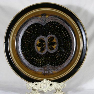 Arabia Fructus hedelmävati, käsinmaalattu, suunnittelija Gunvor Olin-Grönqvist, käsinmaalattu, signeerattu