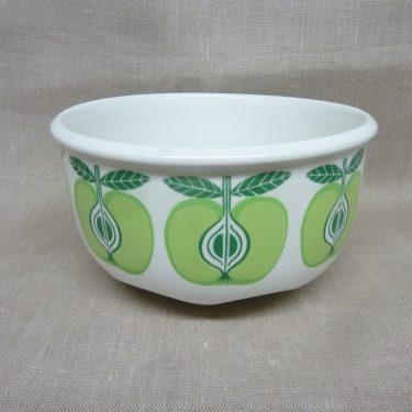 Arabia Pomona Omena bowl, designer Raija Uosikkinen, silk screening, retro