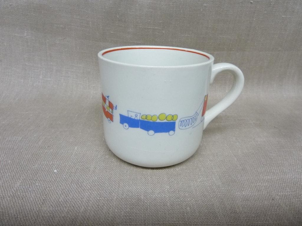 Arabia RA children's cup, silk screening