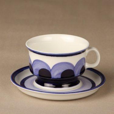 Arabia Paju tea cup, blue, designer Anja Jaatinen, hand-painted, retro