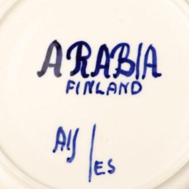 Arabia Paju teekuppi, sininen, suunnittelija Anja Jaatinen, käsinmaalattu, retro kuva 3